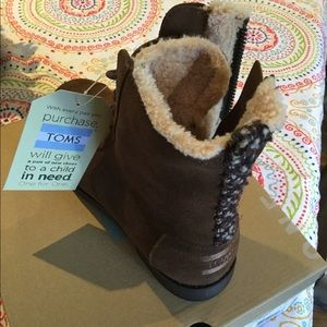 TOMS Chocolate Brown Water Resistant Suede Boot